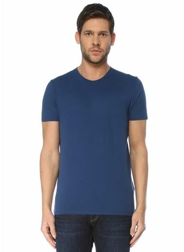 American Vintage Polo Yaka T-shirt Mavi